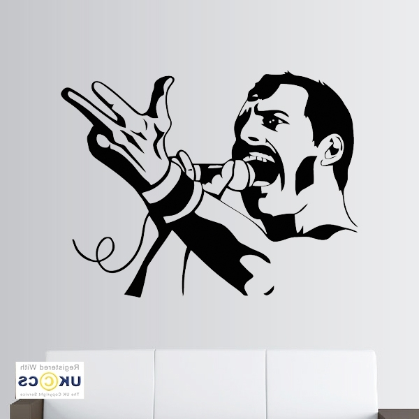 Freddie Mercury Wall Art Within Most Current Freddie Mercury Singer Queen Music Artist Wall Art Stickers Decal (View 12 of 15)