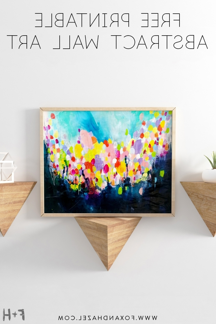 Free Printable Abstract Wall Art (View 5 of 15)