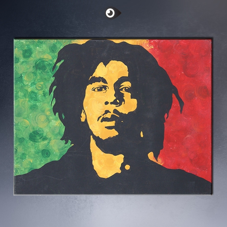 Free Shipment Bob Marley Huge Art Giant Poster Wall Print Poster 4 in Most Popular Bob Marley Canvas Wall Art