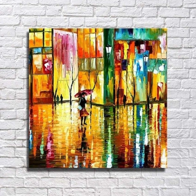 Free Shipping Abstract Bright Color Painting Modern Canvas Art Home Intended For Famous Bright Abstract Wall Art (View 14 of 15)