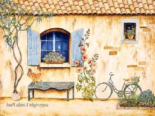 French Country Wall Art Prints Regarding Recent French Country Paintings Art Prints Oil House Canvas – Rehabot (View 10 of 15)