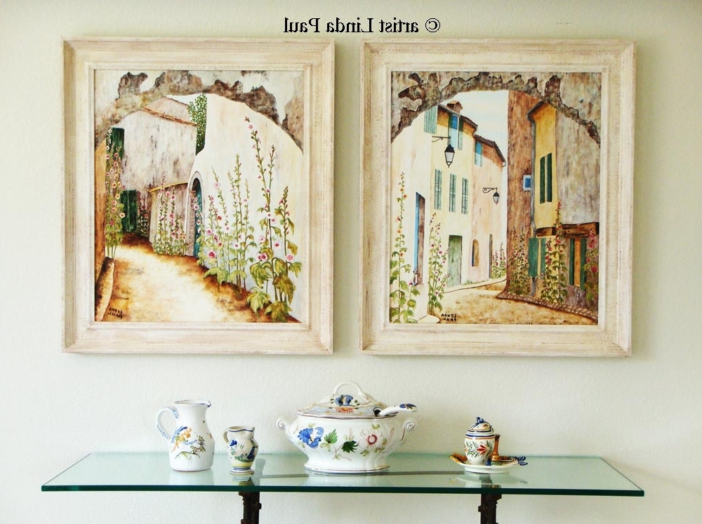 French Country Wall Art Throughout Well Liked Wall Art Ideas Design : Square Framed French Country Wall, Country (View 2 of 15)