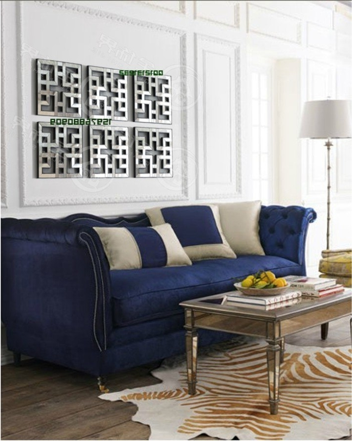 Fretwork Wall Art Within Popular Mirrored Wall Decor Fretwork Square Mirror Framed Wall Art D F (View 11 of 15)