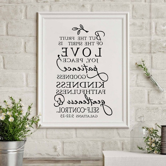 Fruit Of The Spirit Christian Canvas Art Print Poster Wall Picture Throughout Trendy Christian Canvas Wall Art (View 9 of 15)