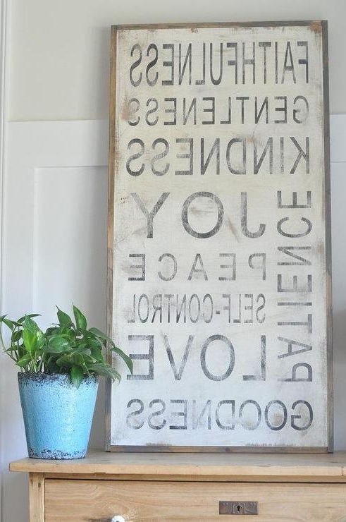Fruit Of The Spirit Signbetweenyouandmesigns On Etsy Pertaining To Fashionable Fruit Of The Spirit Wall Art (View 6 of 15)