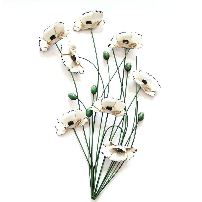 Funky Metal Wall Art Contemporary Cream Poppy Spray Metal Funky With Recent Funky Metal Wall Art (View 11 of 15)