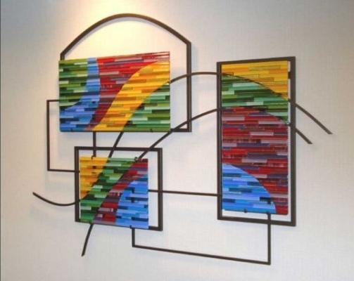 Fused Glass Wall Art Panels Ideas (View 8 of 15)