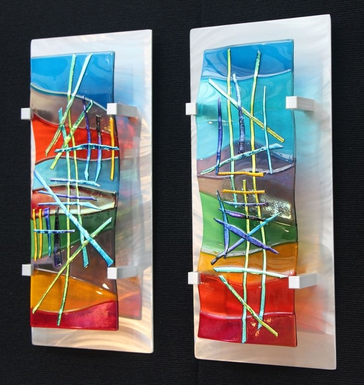Fused Glass Wall Art Panels With Regard To Famous Bold Design Glass Wall Art Panels – Ishlepark (View 15 of 15)