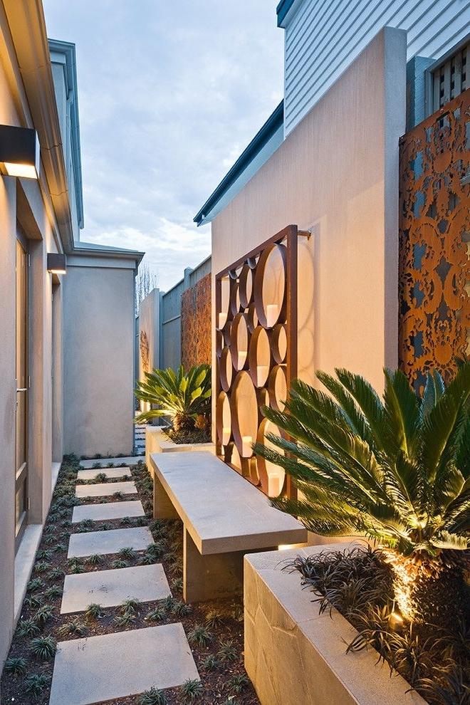 * G A R D E N Regarding Fashionable Modern Outdoor Wall Art (View 4 of 15)