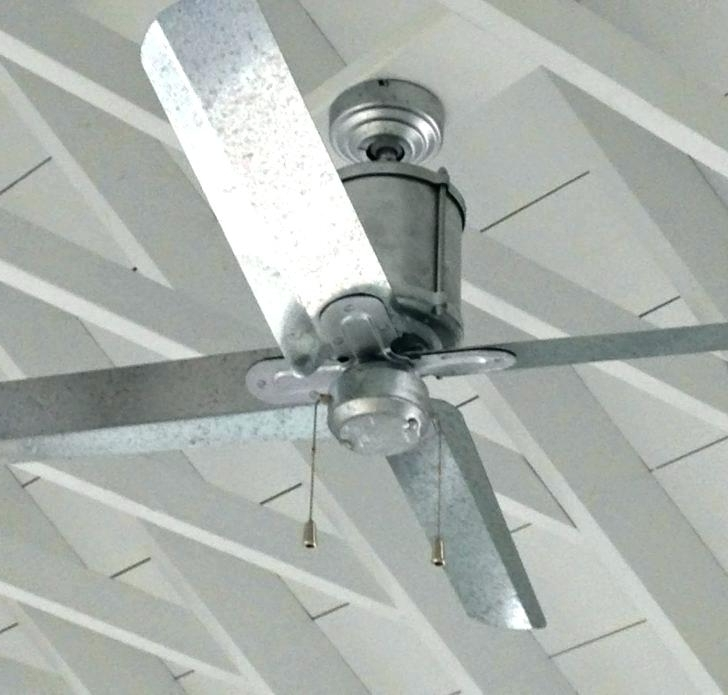 Galvanized Outdoor Ceiling Fan Galvanized Ceiling Fan Outdoor inside Most Up-to-Date Galvanized Outdoor Ceiling Fans
