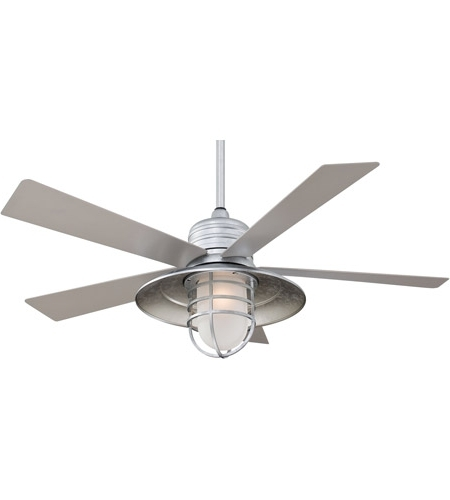Galvanized Outdoor Ceiling Fans For Popular Rainman 54 Inch Galvanized With Silver Blades Outdoor Ceiling Fan In (View 4 of 15)