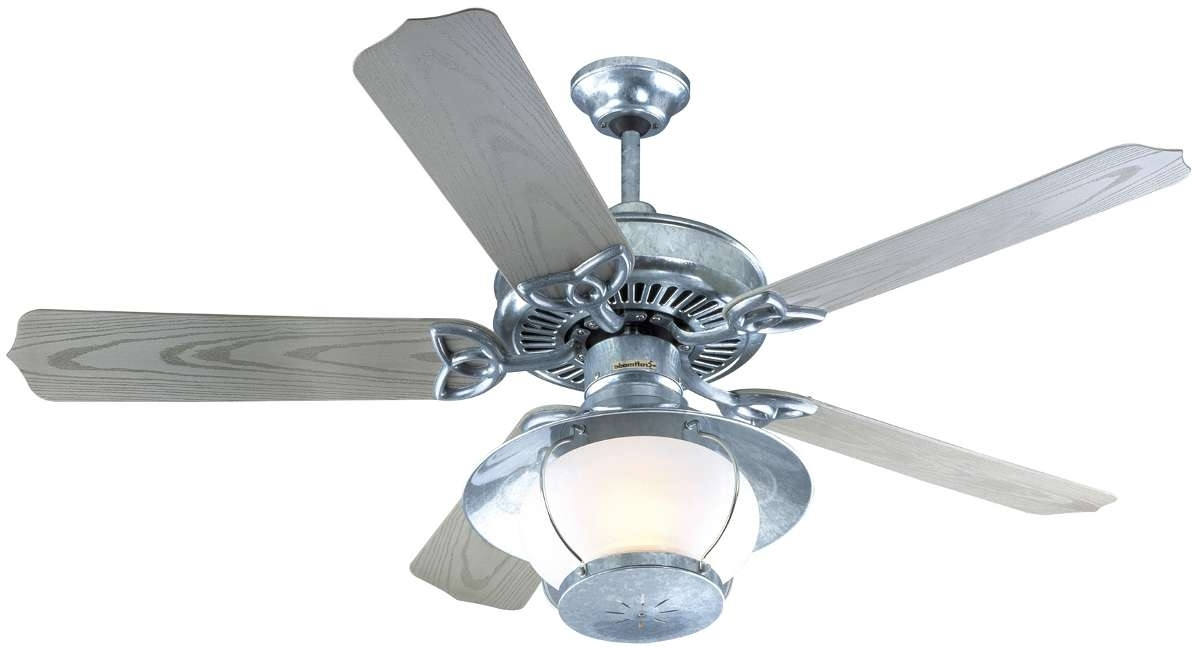 Galvanized Outdoor Ceiling Fans With Light inside Most Current Fresh Galvanized Ceiling Fan The Barnstormer #18606