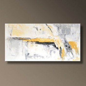 Gamemusicjukebox Pertaining To Most Up To Date Yellow And Grey Abstract Wall Art (Gallery 8 of 15)