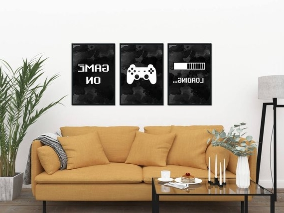 Gaming Wall Art Set Of 3 Gaming Prints Set Video Game Print (Gallery 5 of 15)