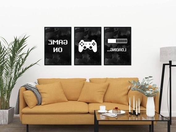 Gaming Wall Art Set Of 3 Gaming Prints Set Video Game Print (View 5 of 15)