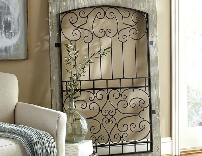 Garden Decor House Regarding Widely Used Metal Gate Wall Art (View 12 of 15)