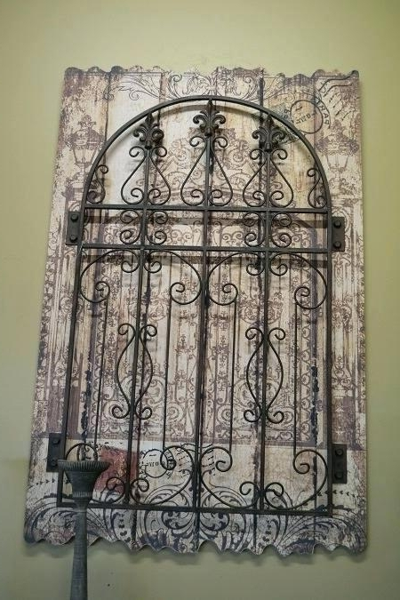 Garden Gates Wall Decor Wall Wall Art Gate Wall Art Metal Iron Wood Throughout Famous Iron Gate Wall Art (View 3 of 15)