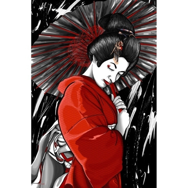 Geisha Canvas Wall Art Inside Popular Shop Maxwell Dickson 'geisha' Canvas Wall Art – Free Shipping Today (View 14 of 15)