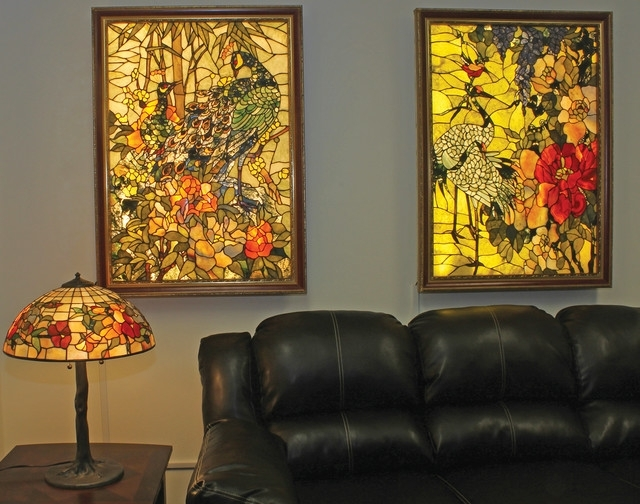 Gemstone Wall Art Inside Newest Backlit Gemstone Art Nouveau Wall Art With A Gemstone Table Lamp (View 7 of 15)