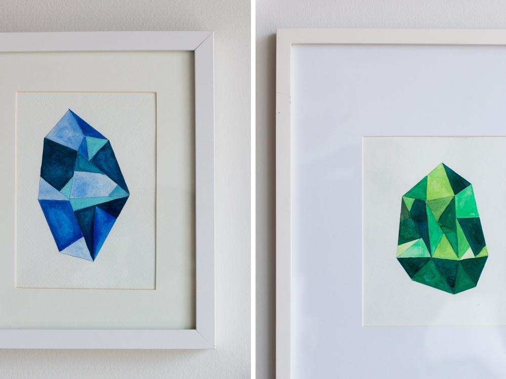 Gemstone Wall Art Within Most Popular Diy Faceted Gemstone Wall Art — Wandeleur (View 5 of 15)