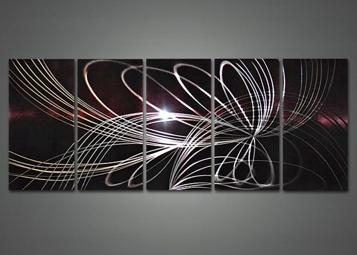 Geometric Modern Metal Abstract Wall Art Regarding Recent Contemporary Geometric Abstract Wood Metal Mirror Wall Sculpture (View 9 of 15)