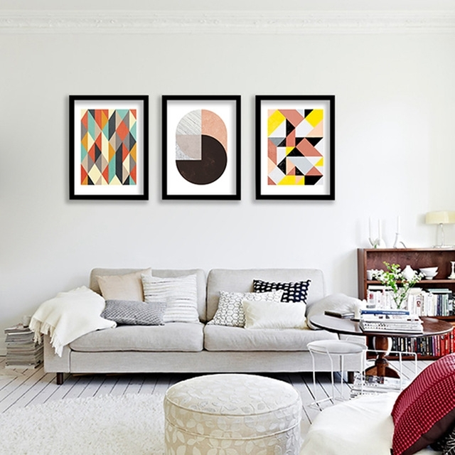 Geometric Patterns Wall Art Canvas Print , Colorful Wall Painting Regarding Fashionable Abstract Office Wall Art (Gallery 6 of 15)