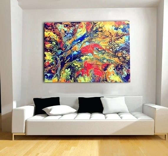 Giant Abstract Wall Art For Current Giant Canvas Wall Art Oversized Canvas Art Oversize Canvas Wall Art (View 3 of 15)