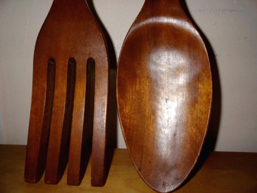 Giant Spoon And Fork Wall Decor Silverware Large – Hopler Intended For Well Known Big Spoon And Fork Wall Decor (View 10 of 15)