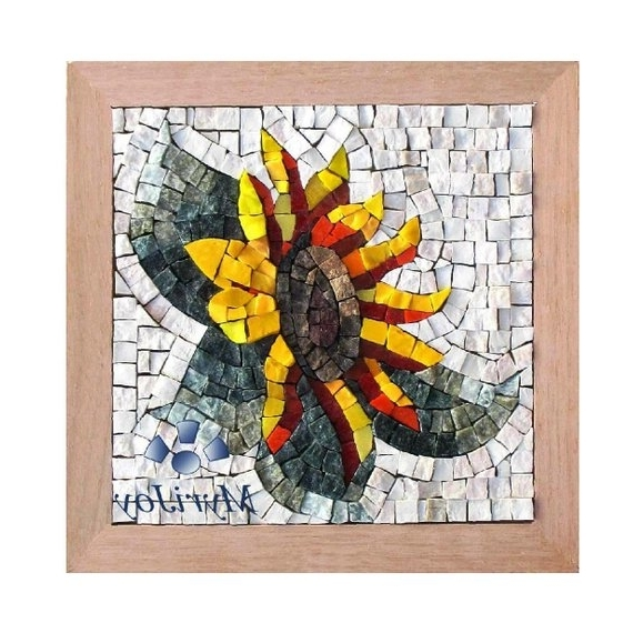 Gifts For Women Diy Mosaics Wall Art Sunflower Marble & (View 2 of 15)