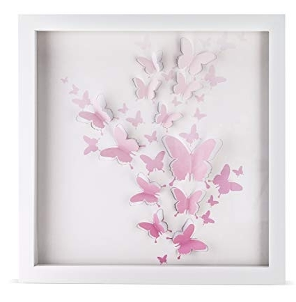 Girls Room Décor Intended For 2017 Pink Butterfly Wall Art (Gallery 9 of 15)