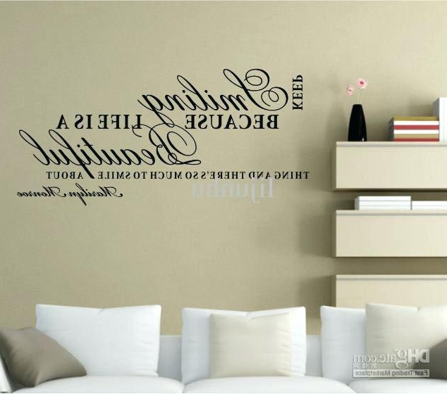 Glamorous Wall Art For Preferred Glamorous Wall Words For Bathroom Wall Art Designs Word Wall Art (Gallery 8 of 15)