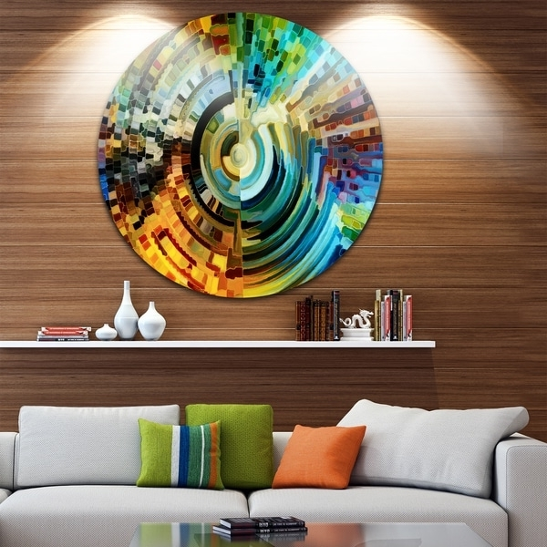 Glass Abstract Wall Art Within Recent Shop Designart 'paths Of Stained Glass' Abstract Glossy Metal Wall (Gallery 1 of 15)