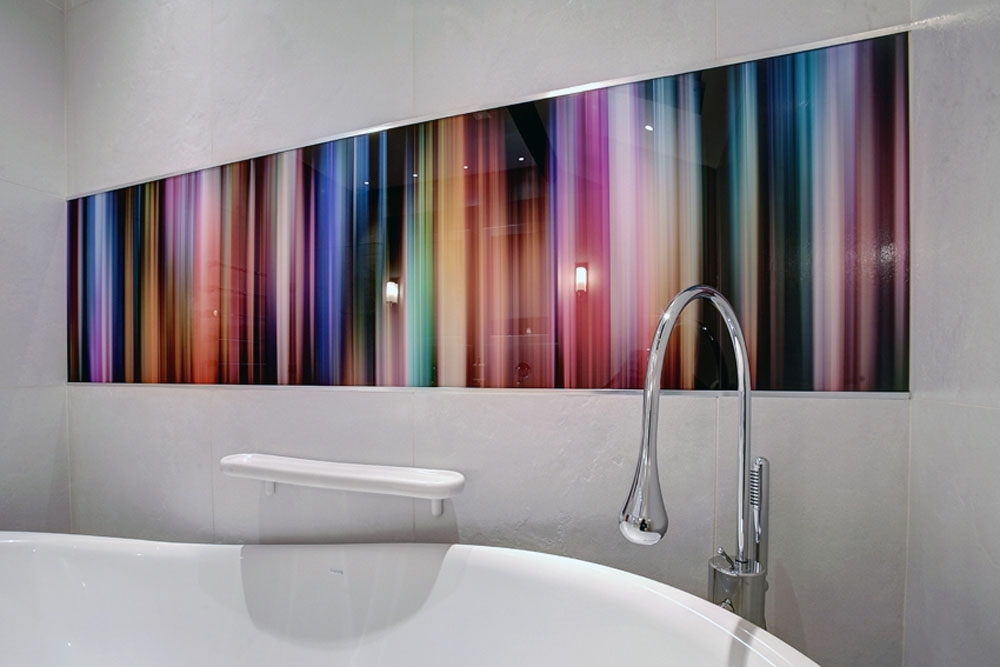 Glass Wall Artworks In Most Recent Bathrooms With Glass Shower Walls & Glass Splashbacks (View 6 of 15)