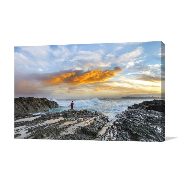 Gold Coast 3D Wall Art With Regard To Widely Used Surfer And Ocean Gold Coast Art Print (View 10 of 15)
