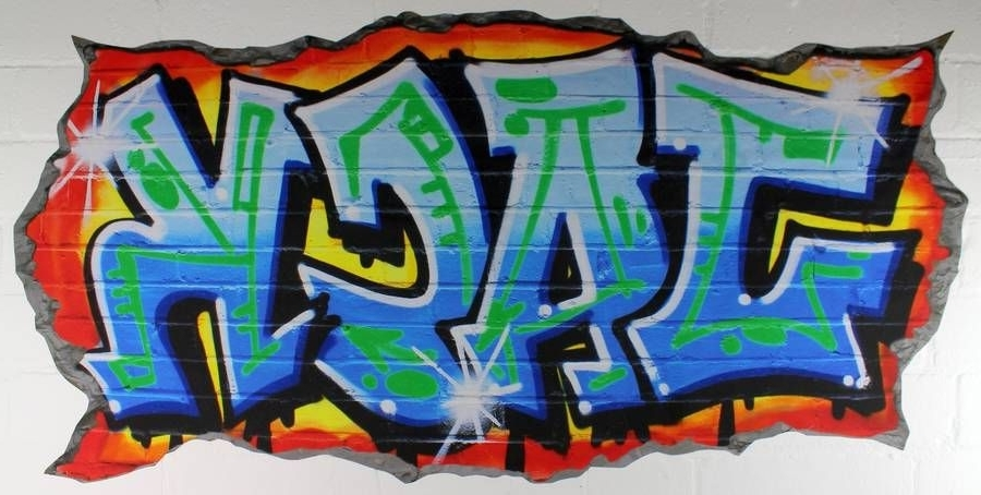 Graffiti And Air Brush For Favorite Personalized Graffiti Wall Art (Gallery 1 of 15)