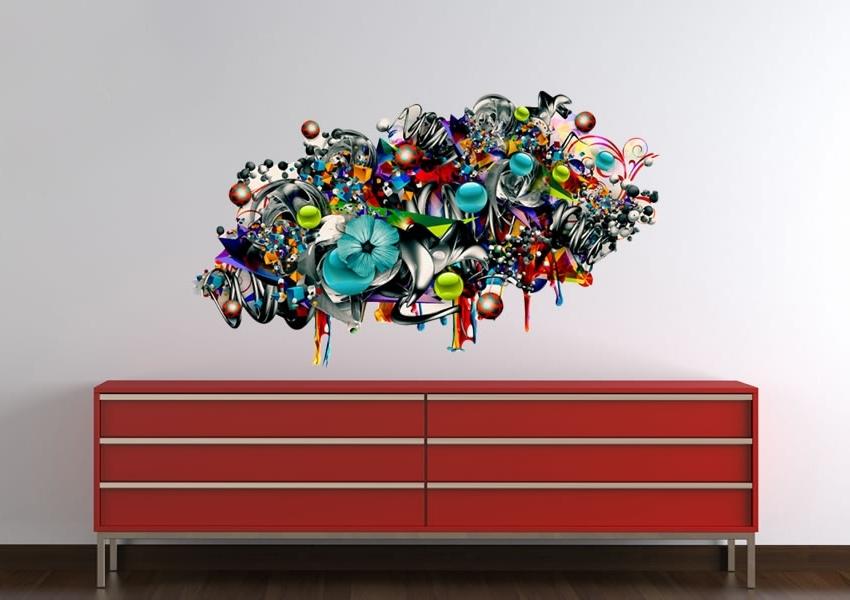Graffiti Wall Art Stickers Inside Well Liked Sofa Ideas (View 5 of 15)