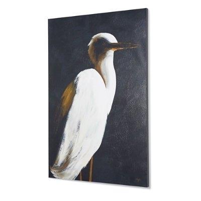 "Grandin Road Wall Art Inside Recent Amazon: White Heron Ii Wall Art – 40"" X 60"" – Grandin Road: Home (View 7 of 15)"