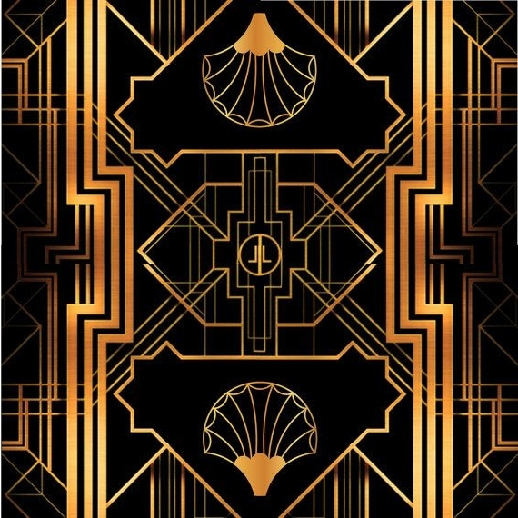 Great Gatsby Art Deco Backdrop For Photos, Wall Decor, Party Sign Inside Most Up To Date Great Gatsby Wall Art (View 2 of 15)