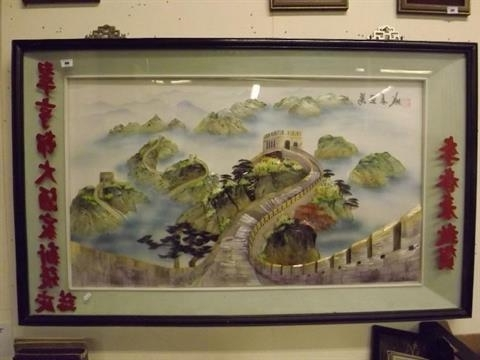 Great Wall Of China 3D Wall Art Inside Most Popular A 3D Chinese Art Shadow Box Made With Mother Of Pearl And Shells (View 4 of 15)