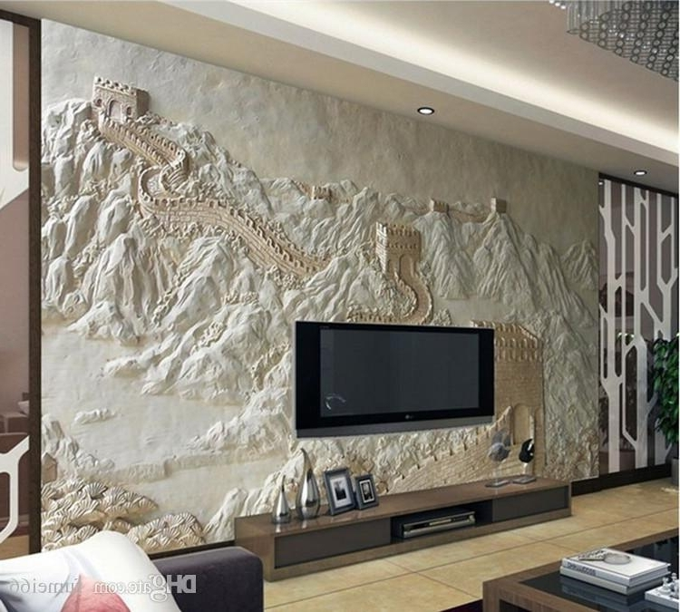 Great Wall Of China 3D Wall Art Intended For Most Popular Great Wall Painting Sand Carving Factory Direct Chinese Hotel Art (Gallery 8 of 15)