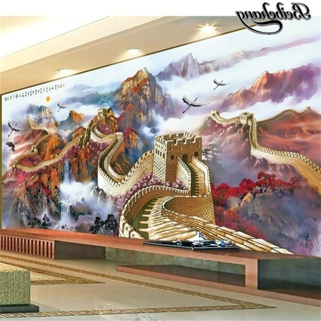 Great Wall Of China 3D Wall Art Throughout Most Up To Date Beibehang Custom Photo Wallpapers 3D Miles Great Wall Chinese (Gallery 14 of 15)