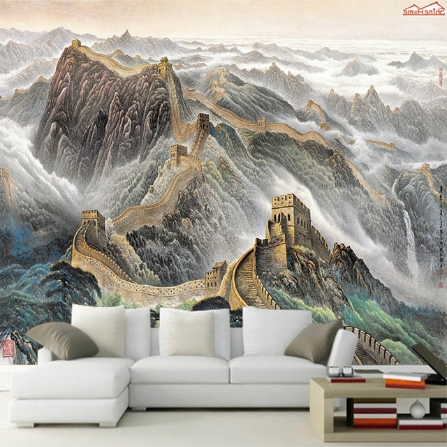 Great Wall Of China 3D Wall Art With Regard To Newest Shinehome Chinese 3 D Wallpaper Mural Roll For Livingroom 3D Great (View 10 of 15)