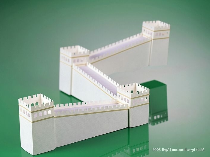 Great Wall Of China – Paper Model Of Great Wall12 – Wallcoo In Latest Great Wall Of China 3D Wall Art (View 7 of 15)
