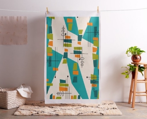 Greatgets intended for Abstract Fabric Wall Art