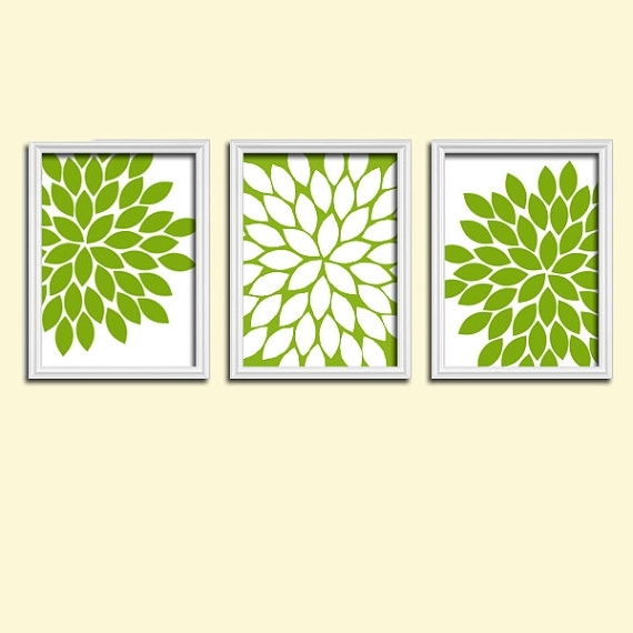 Green Canvas Wall Art Intended For Best And Newest Skillful Design Green Wall Art Interior Designing And White Kitchen (Gallery 8 of 15)