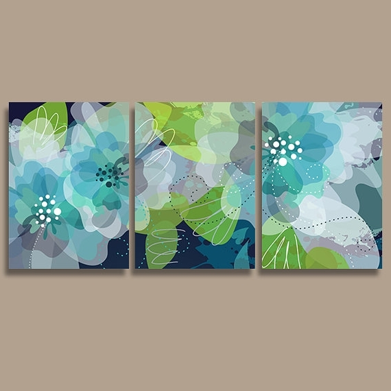 Green Wall Art - Cajole in Well-known Blue And Green Wall Art