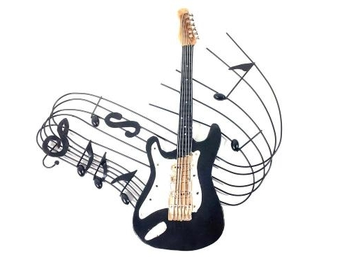 Guitar Metal Wall Art Regarding 2017 Metal Wall Art – Electric Guitar Music Swirl (View 13 of 15)