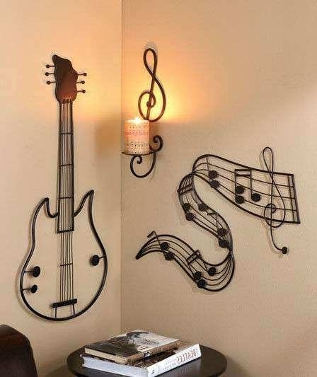 Guitar Metal Wall Art With Regard To Favorite Music Notes Metal Wall Art Awesome Music Lover Wall Art Guitar (View 7 of 15)