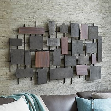 Hammered Metal Wall Art Throughout Latest Hammered Metal + Wood Wall Art #westelm I Need This Over My Bed (View 8 of 15)
