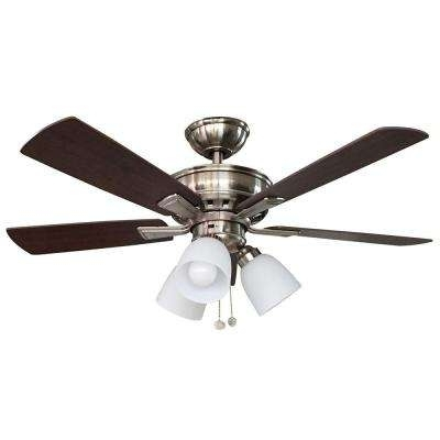 Hampton Bay – Ceiling Fans – Lighting – The Home Depot With Most Up To Date Outdoor Ceiling Fan No Electricity (View 12 of 15)